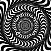 黑色和白色的漩涡线。光学错觉 | 向量插图