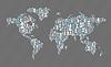 Weltkarte. Social-Media-Konzept