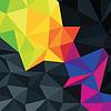 摘要三角形丰富多彩的accente背景 | 向量插图