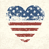 Heart shaped amerikanische Flagge. | Stock Vektrografik