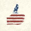 状的美国国旗。 | 向量插图