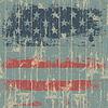 美国国旗打印对木制墙。 | 向量插图