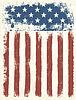 油渍美国国旗背景。 | 向量插图