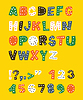 可爱幼稚的字母。 | 向量插图