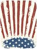 Amerikanisches patriotisches Plakat Hintergrund. Weinlese
