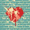 Herz-Symbol auf Mauer,