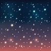 夜间天空星星 | 向量插图