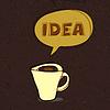 Kaffee Tasse Idee. Konzept,