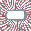 Patriotischer Hintergrund mit Grunge-Rahmen