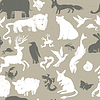 Nahtlose Muster mit Tieren