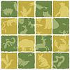 Nahtlose Muster Tierpark-Themenhotel