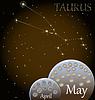 Kalender von Sternzeichen Stier
