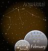 ID 3765716 | Kalendarz Znak zodiaku Wodnik | Klipart wektorowy | KLIPARTO