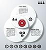 Infografik mit drei überlappenden Kreisen | Stock Vektrografik