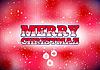 Red Weihnachtskarte mit Schnee und Christbaumkugeln | Stock Vektrografik