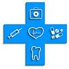 Medizin blaue Symbol