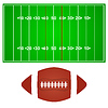 American-Football-Feld mit Ball