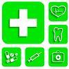 Medizin Symbole Set