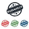 Round Budapest Stadt Stempelset
