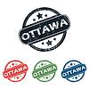 Round Ottawa Stadt Stempelset