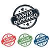 Round Santo Domingo Stempelset