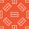 Orange CHOICE Stempelmuster