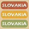 Vintage Slovakia Stempelset