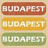 Weinlese Budapest Stempelset