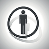 Curved Mann-Zeichen-Symbol