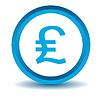 Britisches Pfund-Symbol, blau, 3D-