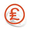 Pfund Sterling Zeichen Aufkleber, orange