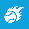 Hot Baseball-ikone, einfach
