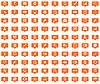 Business Orange Nachrichtenikonen eingestellt