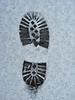 Trace der Schuh auf Schnee | Stock Foto
