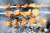 Appetitlich Grill in Brand   Stock Foto