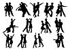 Silhouetten von Menschen tanzen | Stock Foto