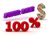 100 PERSENT SUPER SALE 비즈니스 아이콘 키워드, 금 | Stock Illustration