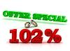 (102) PERSENT는 특별 비즈니스 아이콘 녹색을 제공 | Stock Illustration