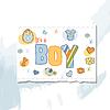Мальчик душ карты | Векторный клипарт