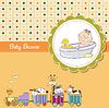 lustigen Comic-Baby-Dusche-Karte