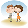glücklich Liebende Paar