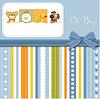 Baby-Dusche-Karte mit lustigen Tieren | Stock Vektrografik