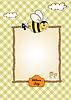 Baby-Dusche-Karte mit lustigen kleinen Biene