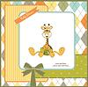 Baby-Dusche-Karte mit Baby-Giraffe