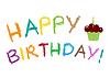 Happy Card поздравление с днем рождения - | Векторный клипарт