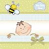 男婴淋浴公布 | 向量插图