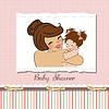 junge Mutter mit neuen Babys
