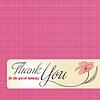 danke Grußkarte mit Blume