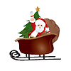 Santa Claus, Grußkarte Design