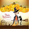 Halloween-Hexe Hintergrund